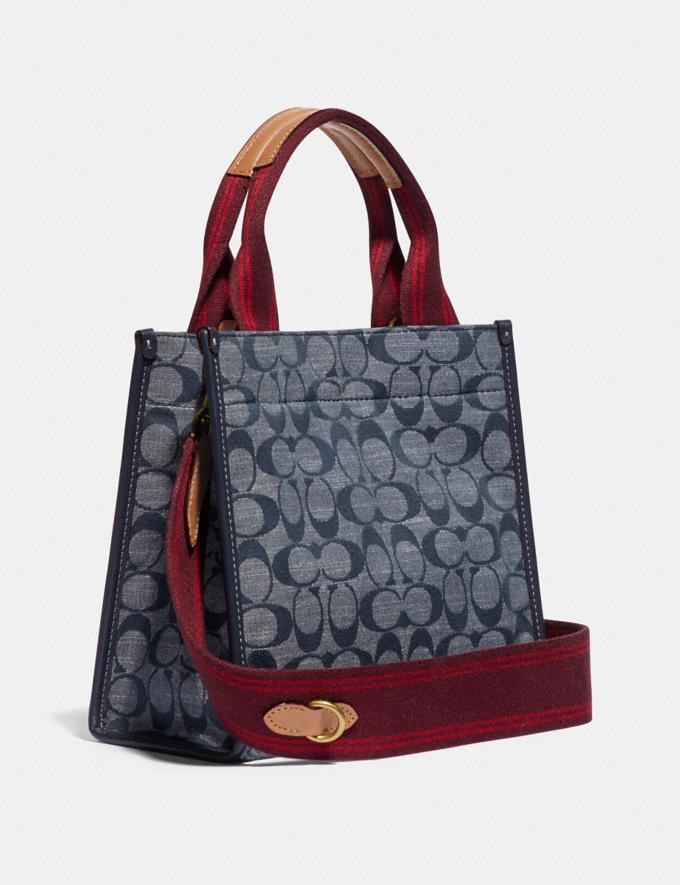 Coach Tote 22 in Signature Chambray B4/Chambray Midnight Navy Mlti Women Bags Totes Alternate View 1