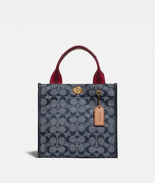 TOTE 22 IN SIGNATURE CHAMBRAY