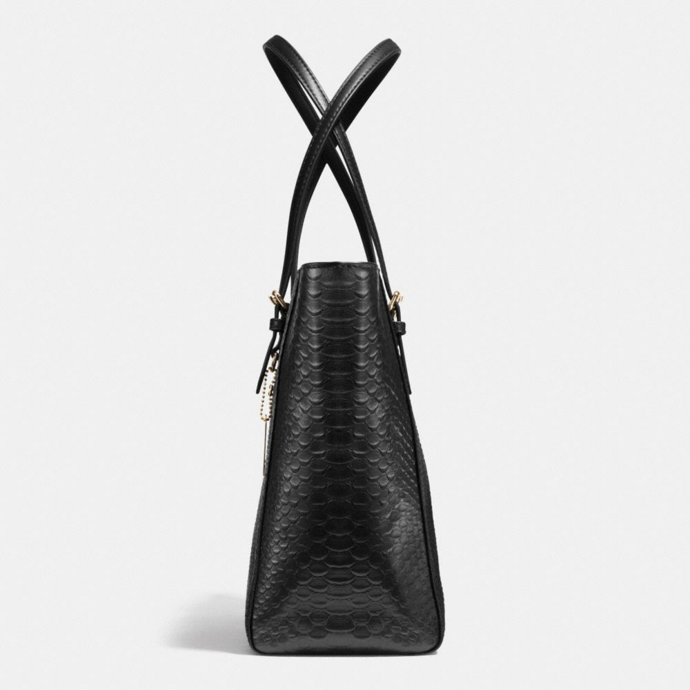 Turnlock Tote in Snake Embossed Leather - Alternate View A1