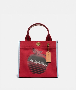 TOTE 22 WITH RETRO BIG APPLE CAMP PRINT