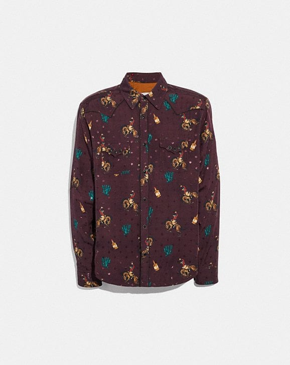Coach RODEO PRINT WESTERN SHIRT