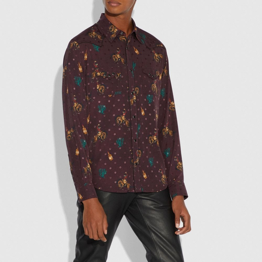 Coach Rodeo Print Western Shirt Alternate View 1