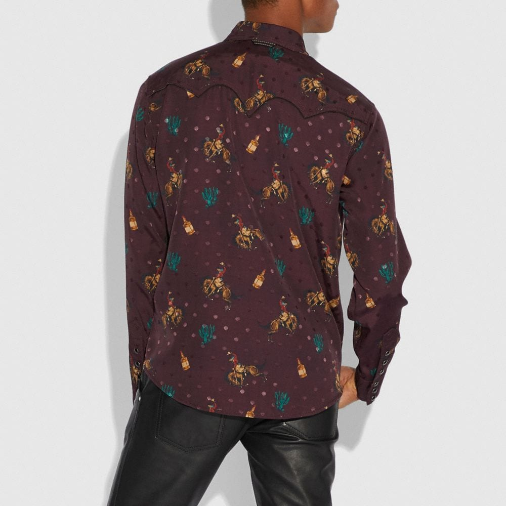 Coach Rodeo Print Western Shirt Alternate View 2