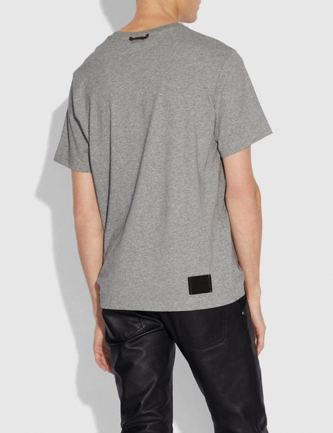 Coach Rexy and Carriage T-Shirt Heather Grey  Alternate View 2