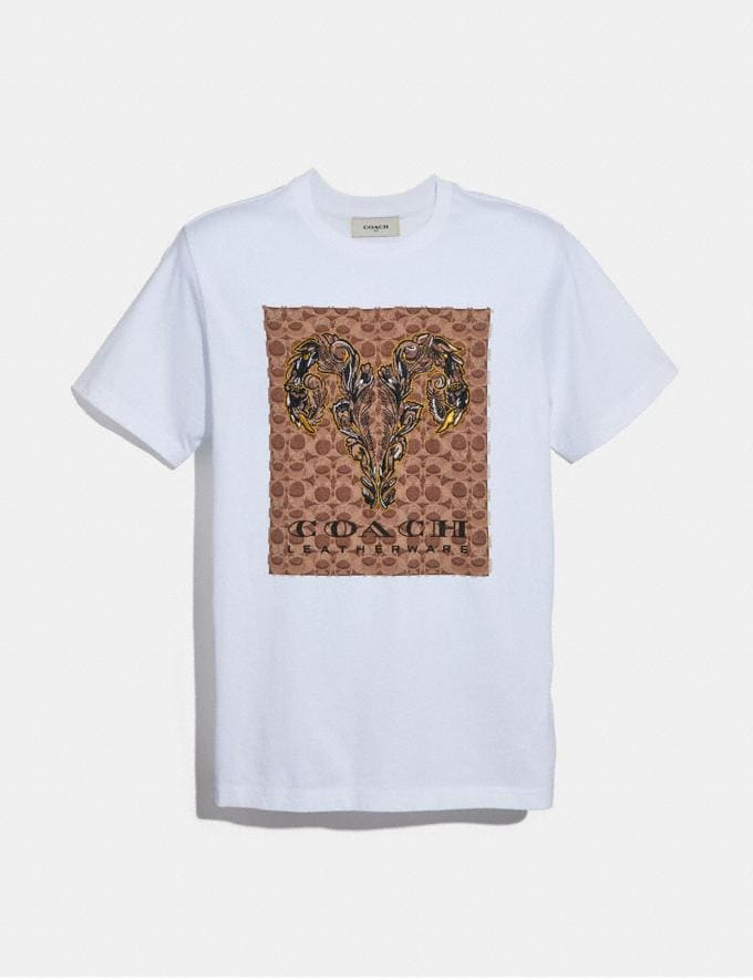 Coach Signature Tattoo T-Shirt White