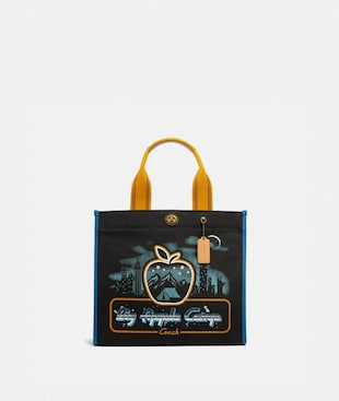 BORSA TOTE 34 CON STAMPA SKYLINE BIG APPLE CAMP