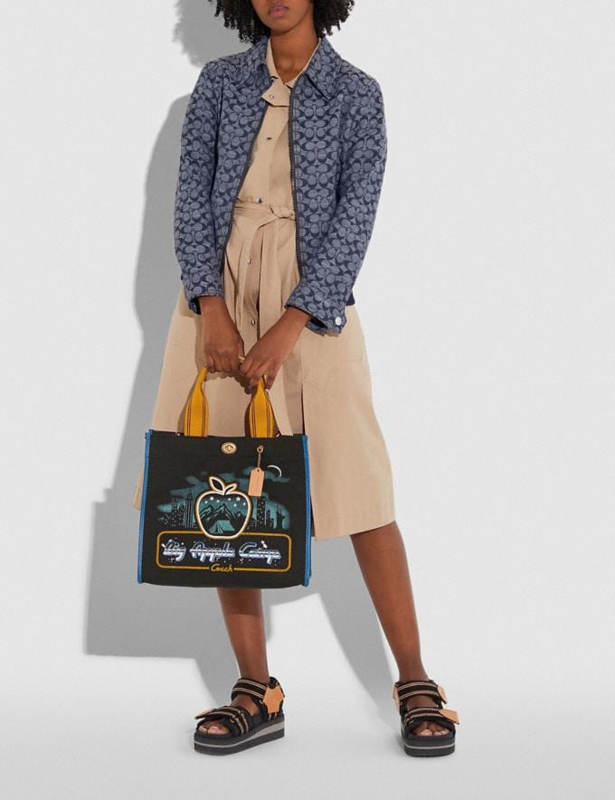 "Coach Tote 34 Mit Skyline Und ""Big Apple Camp""-Print Messing/Schwarz Damen Taschen Totes Alternative Ansicht 4"