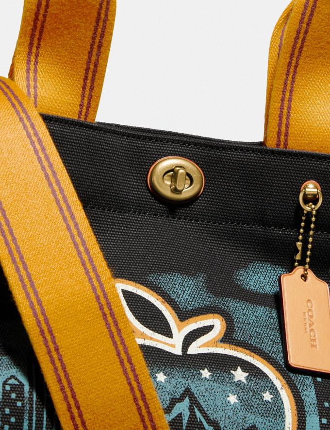 "Coach Tote 34 Mit Skyline Und ""Big Apple Camp""-Print Messing/Schwarz Damen Taschen Totes Alternative Ansicht 5"