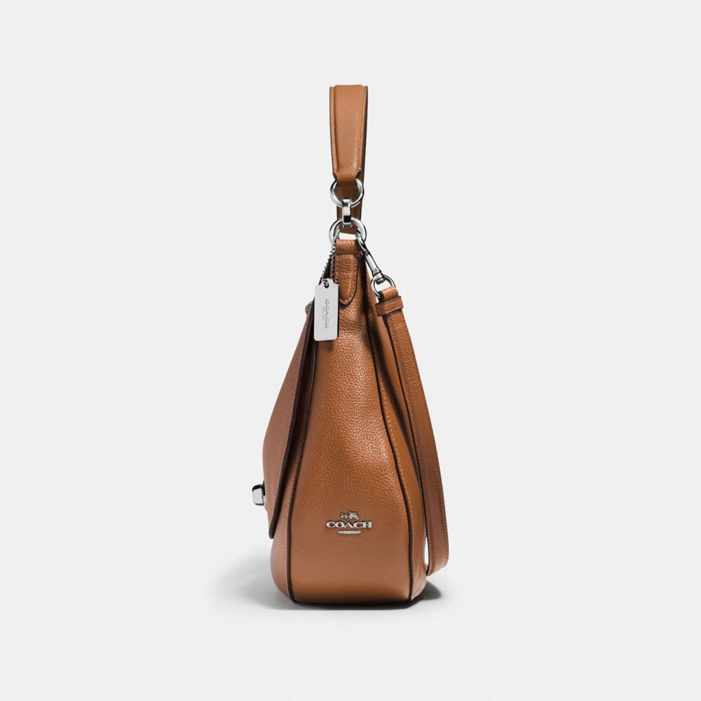 Coach Turnlock Hobo in Polished Pebble Leather Alternate View 1