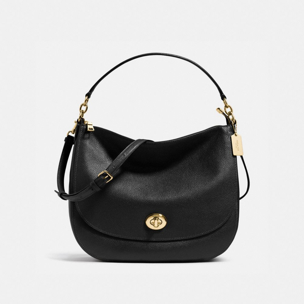 Coach Turnlock Hobo in Polished Pebble Leather