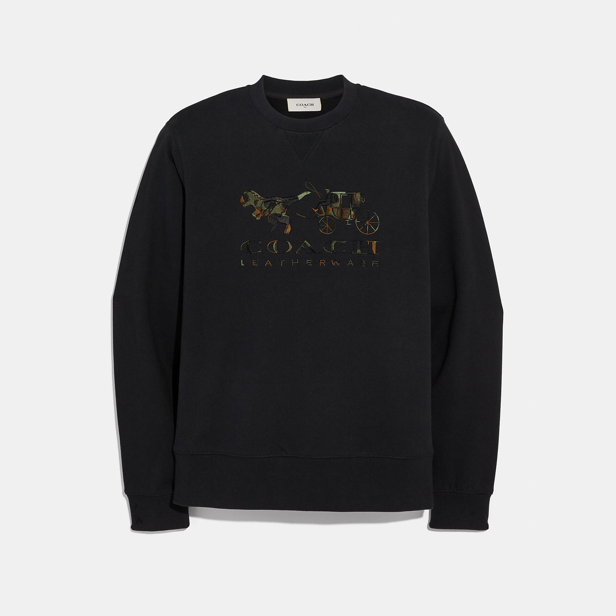 Coach COACH REXY AND CARRIAGE CAMO SWEATSHIRT
