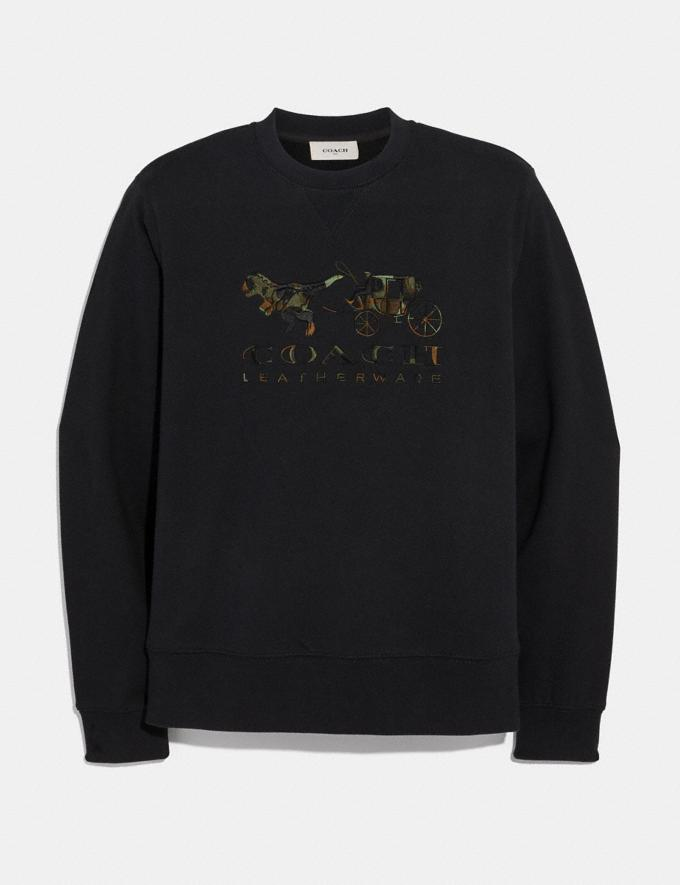 Coach Rexy and Carriage Camo Sweatshirt Black