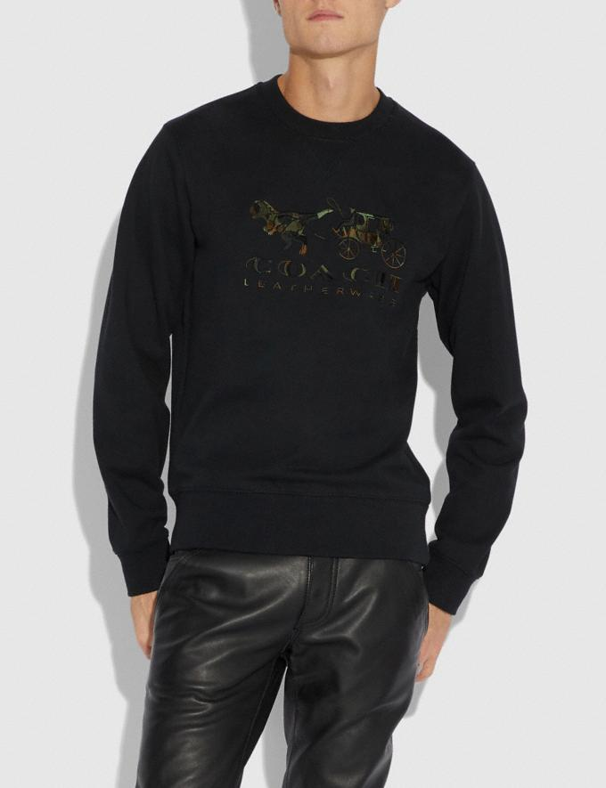 Coach Rexy and Carriage Camo Sweatshirt Black  Alternate View 1