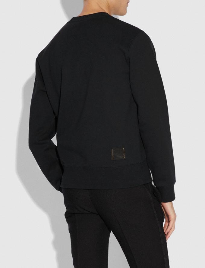Coach Signature Skull Sweatshirt Black  Alternate View 2