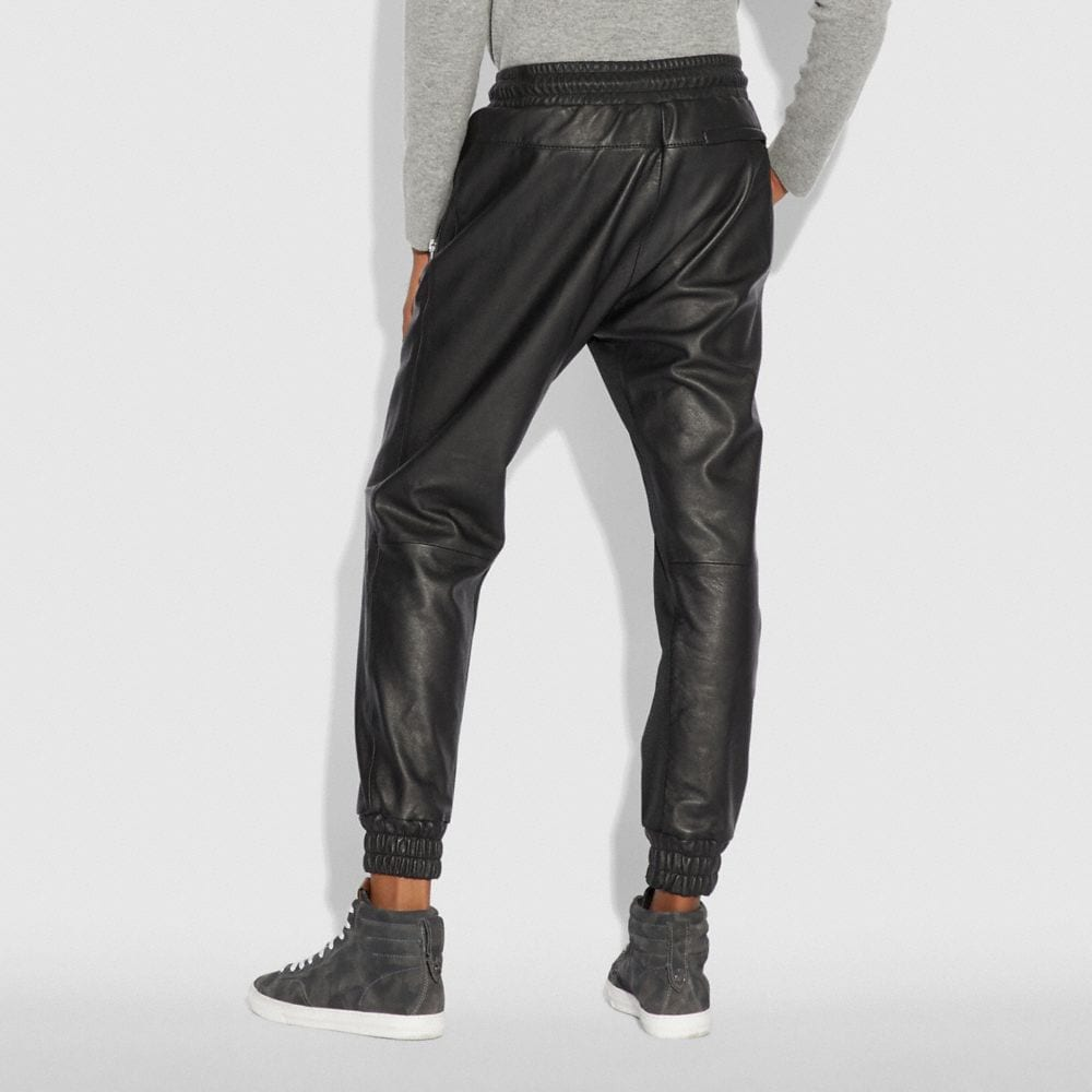 Coach Leather Track Pant Alternate View 2