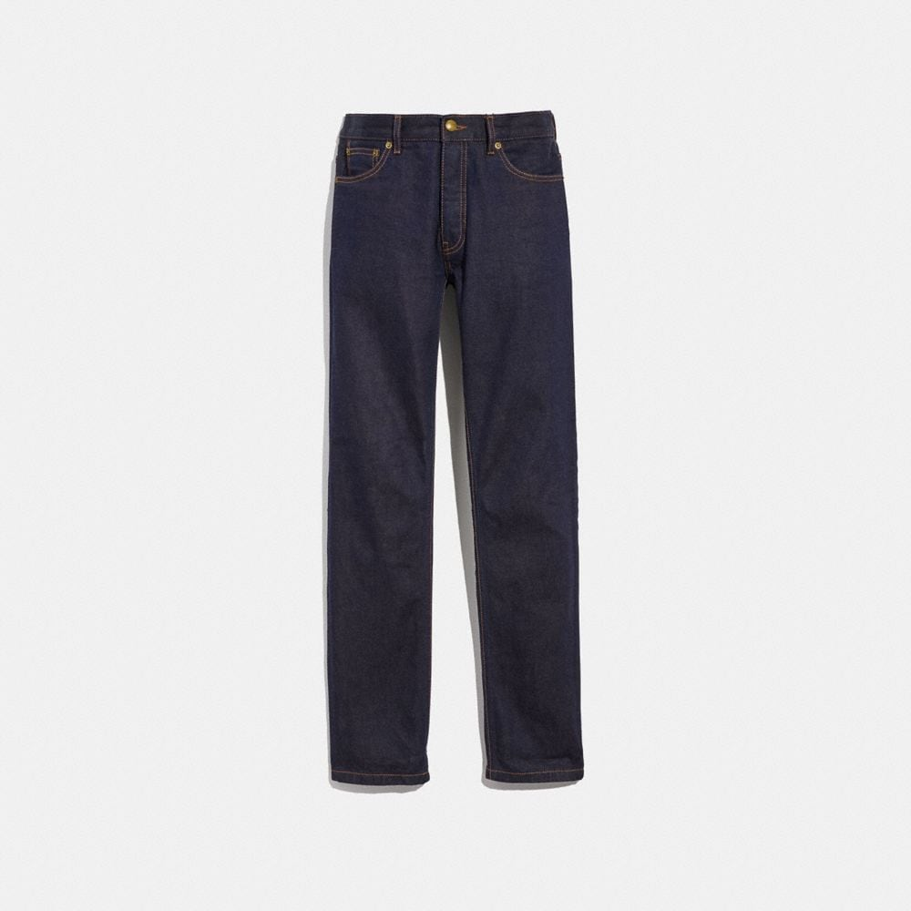 Coach Dark Wash Denim Pant