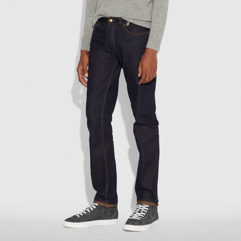 Coach Dark Wash Denim Pant Alternate View 1
