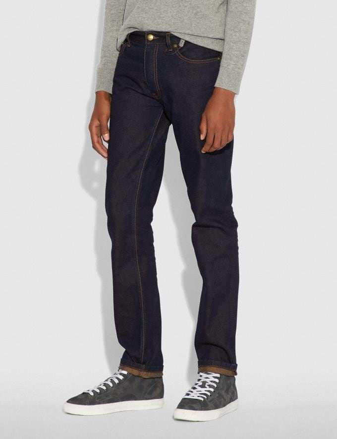 Coach Dark Wash Denim Pants Indigo Men Ready-to-Wear Tops & Bottoms Alternate View 1