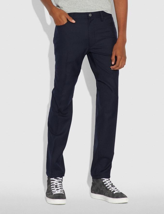 Coach Trousers Navy Men Ready-to-Wear Apparel Alternate View 1