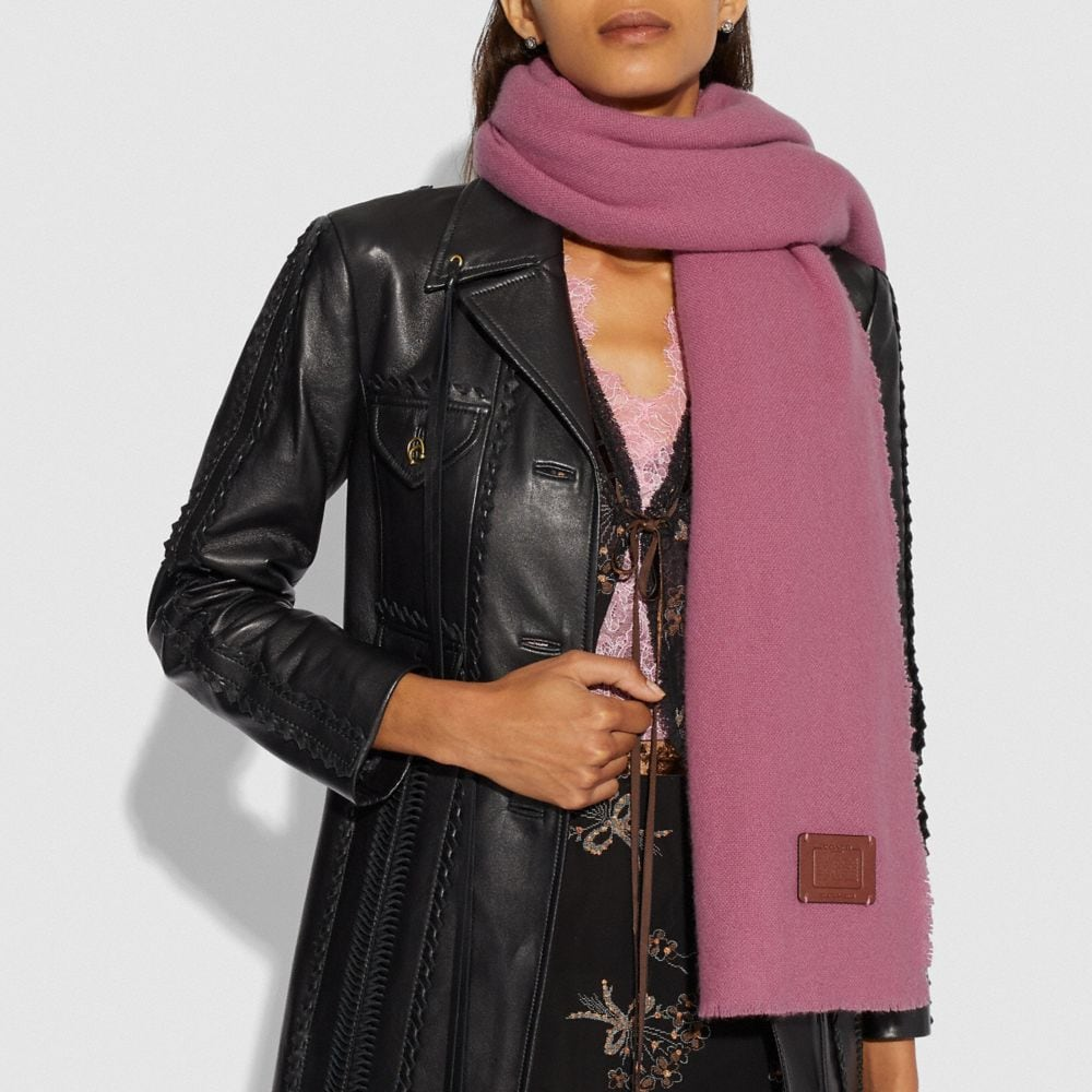 Coach Oversized Solid Cashmere Blanket Scarf Alternate View 1
