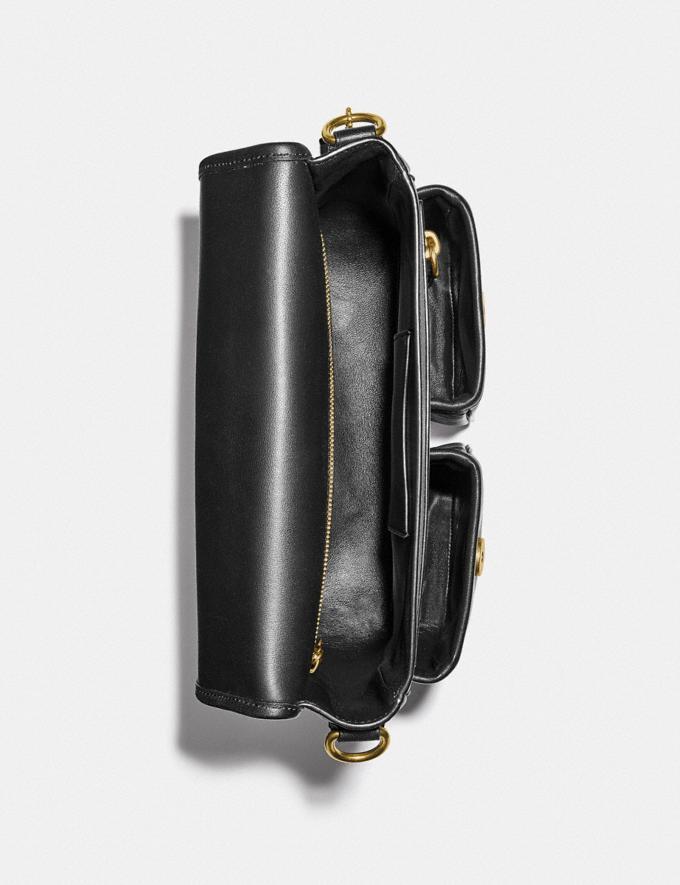 Coach Map Bag With Varsity Stripe Brass/Black Men Edits Work Alternate View 2