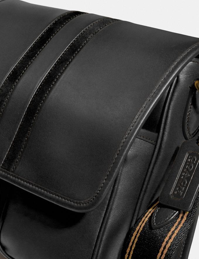 Coach Map Tasche Mit College-Streifen Messing/Schwarz Herren Taschen Umhängetaschen Alternative Ansicht 3