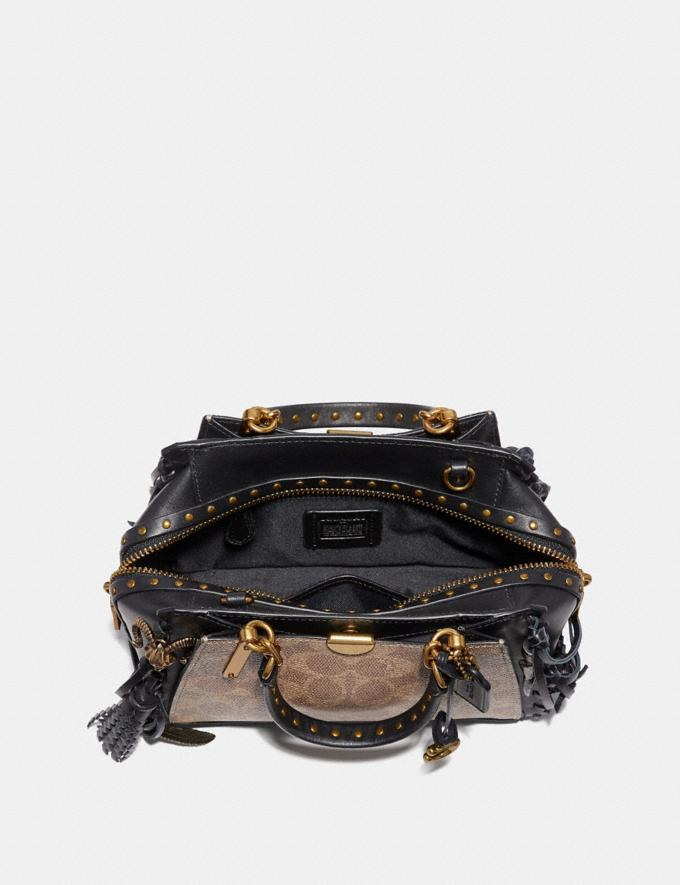Coach Dreamer 21 in Signature Canvas With Whipstitch Tan/Black/Brass  Alternate View 2