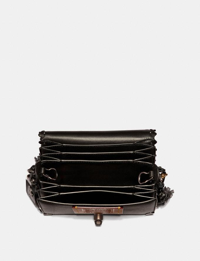 Coach Dinky 19 in Signature Canvas With Tattoo Tan Black/Black Copper Women Collection Dinky Alternate View 2