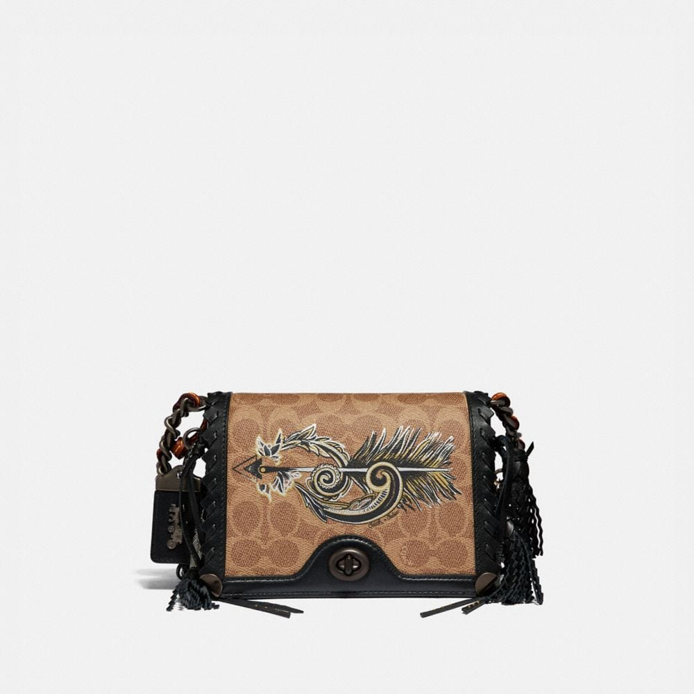 Coach Dinky 19 in Signature Canvas With Tattoo
