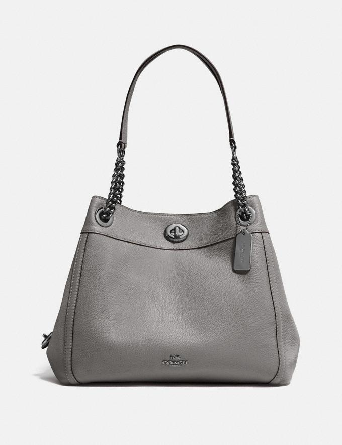 Coach Turnlock Edie Shoulder Bag Heather Grey/Dark Gunmetal SALE Women's Sale Bags