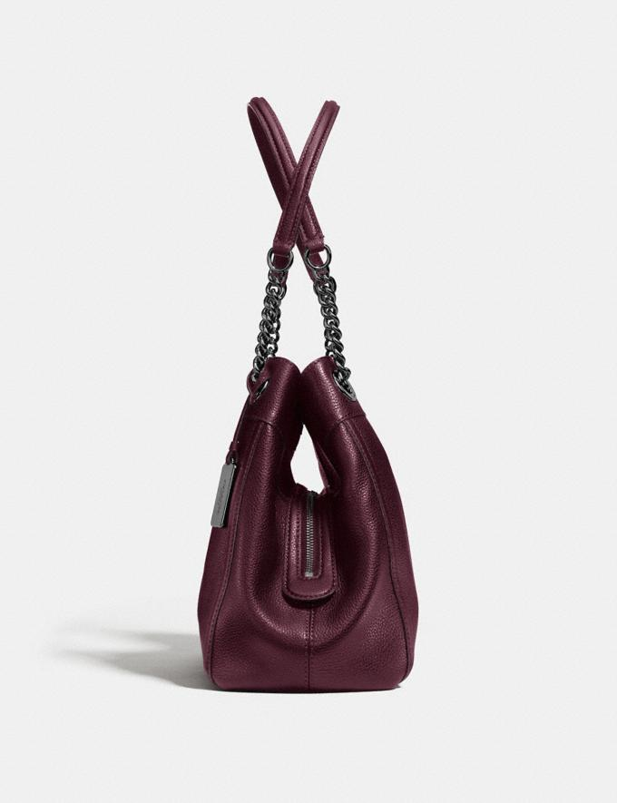 Coach Turnlock Edie Shoulder Bag Oxblood/Dark Gunmetal Women Bags View All Alternate View 1