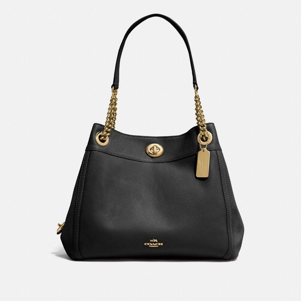 COACH: Turnlock Edie Shoulder Bag