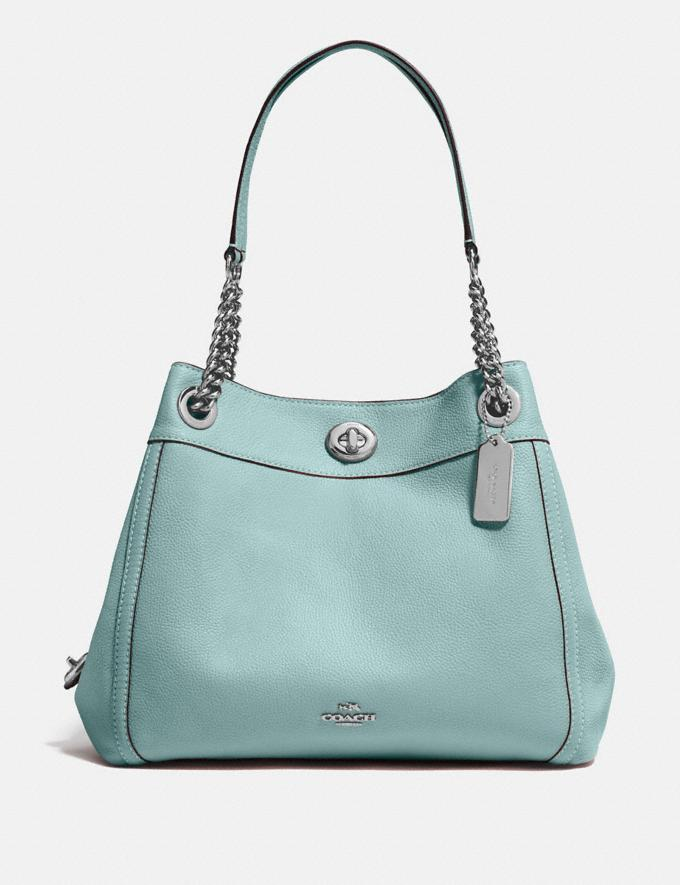 Coach Turnlock Edie Shoulder Bag Blossom/Silver SALE Women's Sale