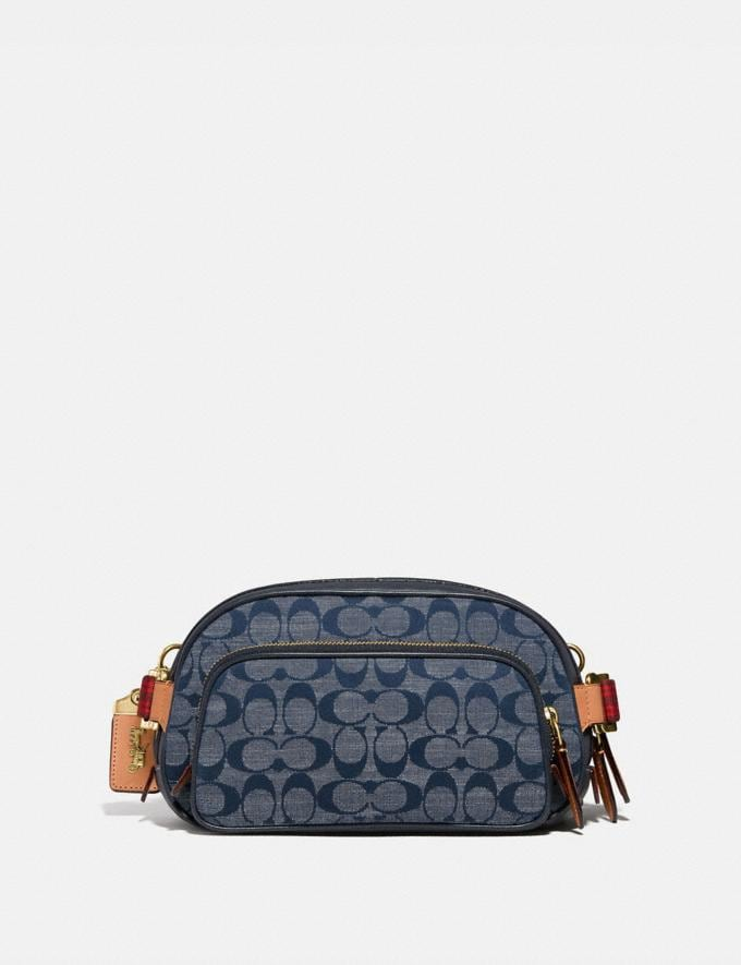 Coach Belt Bag in Signature Chambray Brass/Chambray New Men's New Arrivals Collection