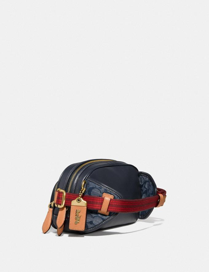Coach Belt Bag in Signature Chambray Brass/Chambray New Men's New Arrivals Collection Alternate View 1