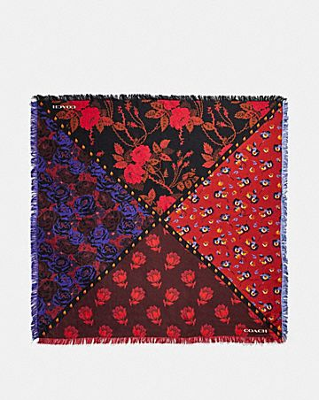 FLORAL SILK PRINTED SQUARE