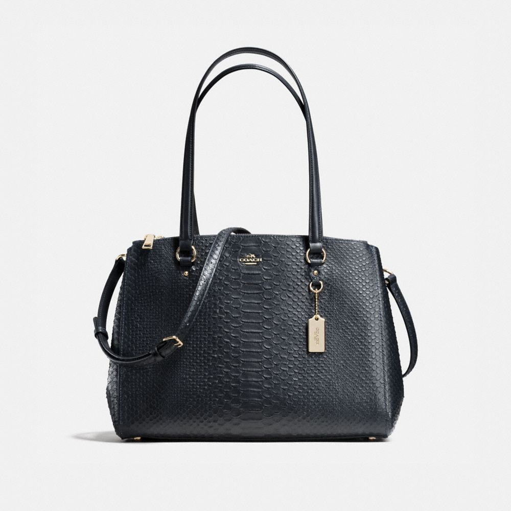 STANTON CARRYALL IN STAMPED SNAKESKIN LEATHER
