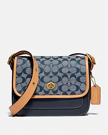 rambler crossbody in signature chambray