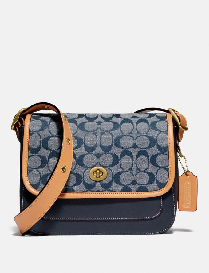 Coach Rambler Crossbody in Signature Chambray B4/Chambray Midnight Navy Mlti New Women's New Arrivals
