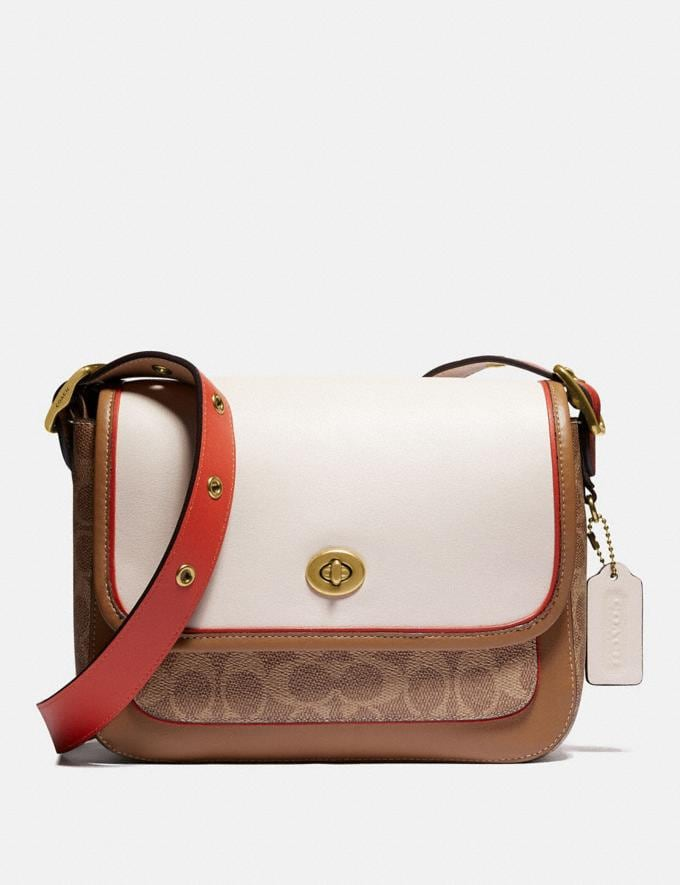 Coach Rambler Crossbody in Signature Canvas Brass/Tan Chalk Multi New Women's New Arrivals View All