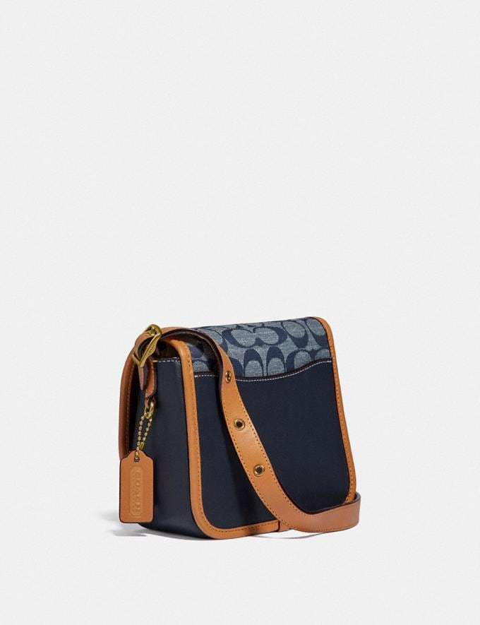 Coach Rambler Crossbody 16 in Signature Chambray B4/Chambray Midnight Navy Mlti Women Bags Crossbody Bags Alternate View 1