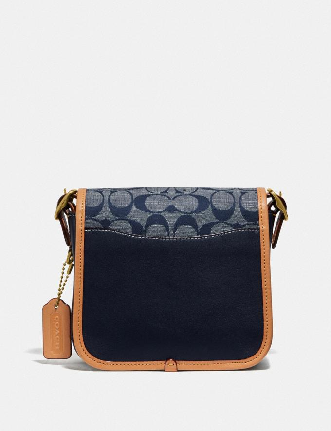 Coach Rambler Crossbody 16 in Signature Chambray B4/Chambray Midnight Navy Mlti Women Bags Signature Bags Alternate View 2