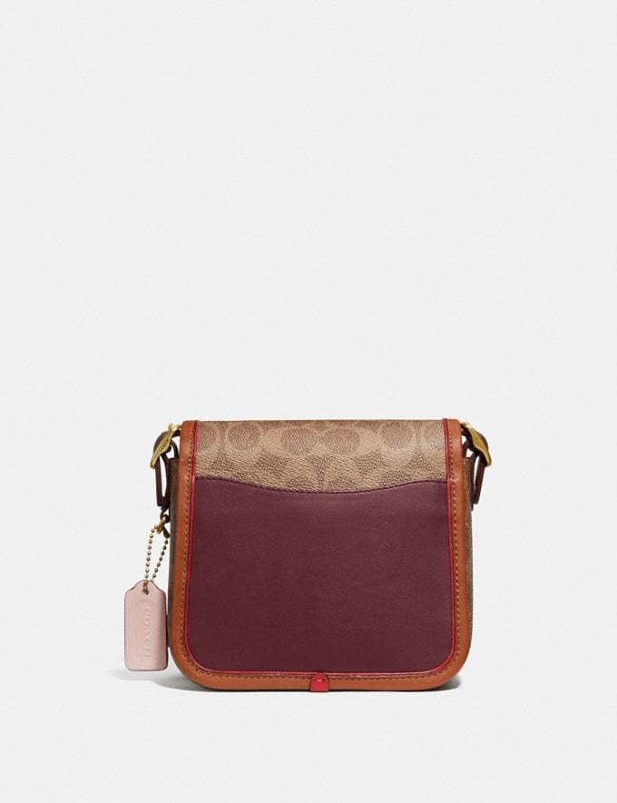 Coach Rambler Crossbody 16 in Signature Canvas Brass/Tan Light Maroon Multi Damen Taschen Umhängetaschen Alternative Ansicht 2