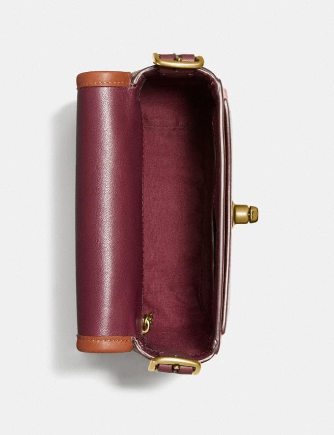 Coach Rambler Crossbody 16 in Signature Canvas Brass/Tan Light Maroon Multi Damen Taschen Umhängetaschen Alternative Ansicht 3