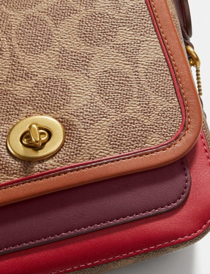 Coach Rambler Crossbody 16 in Signature Canvas Brass/Tan Light Maroon Multi Damen Taschen Umhängetaschen Alternative Ansicht 5