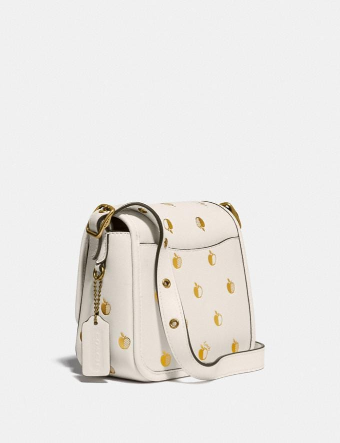 Coach Rambler Crossbody 16 With Apple Print Brass/Chalk New Women's New Arrivals View All Alternate View 1