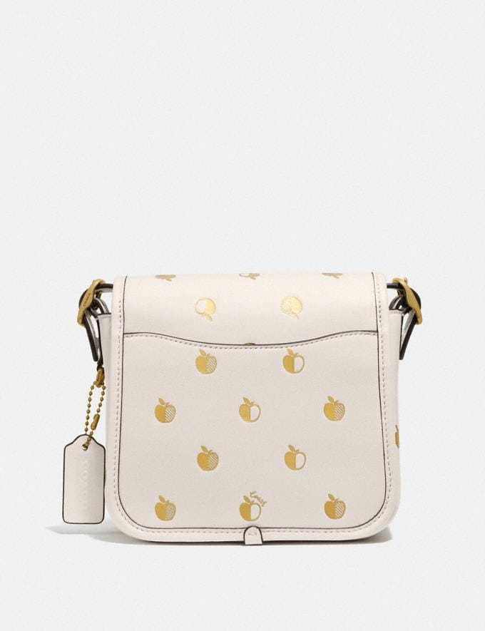 Coach Rambler Crossbody 16 With Apple Print B4/Chalk Women Bags Shoulder Bags Alternate View 2