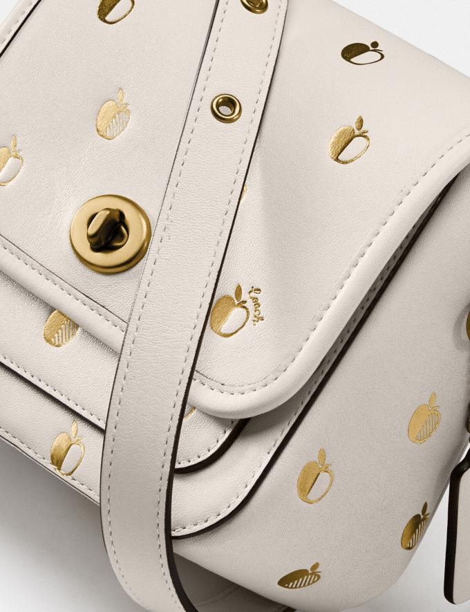 Coach Rambler Crossbody 16 With Apple Print Brass/Chalk New Women's New Arrivals Collection Alternate View 3