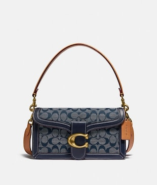 TABBY SHOULDER BAG 26 IN SIGNATURE CHAMBRAY