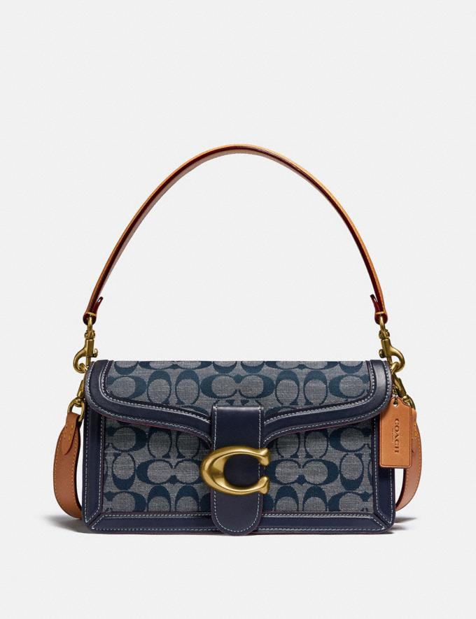 Coach Tabby Shoulder Bag 26 in Signature Chambray B4/Chambray Midnight Navy Mlti Women Bags Shoulder Bags